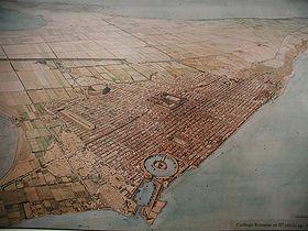 Plano de Cartago romana.