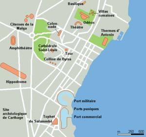Localización de los puertos púnicos.
