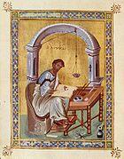 Pintura sobre pergamino (siglo X)