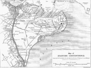 Mapa de Constantinopla. Véase aquí para mayor detalle.