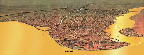 Dibujo de Constantinopla.